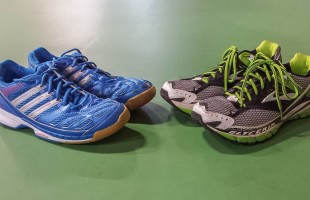Running shoes vs Badminton shoes